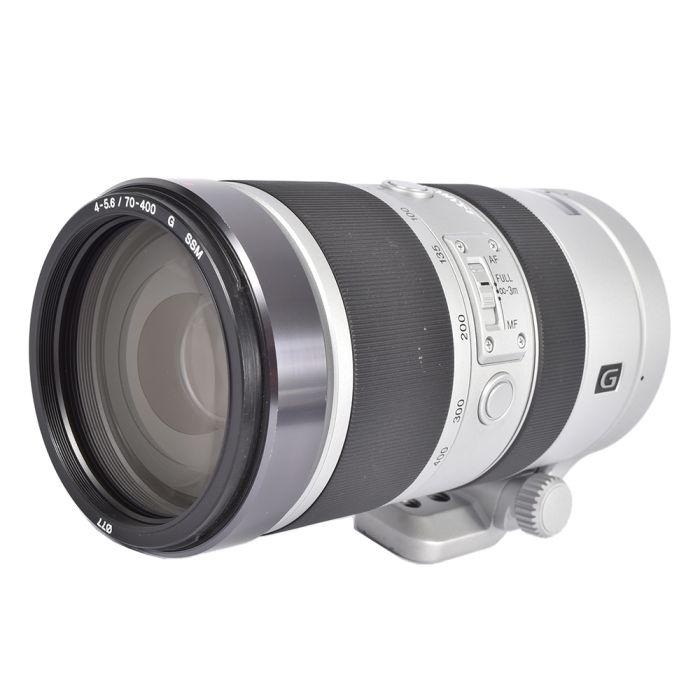 Sony 70-400mm f/4-5.6 G SSM A-Mount autofocus lens, Silver [77]
