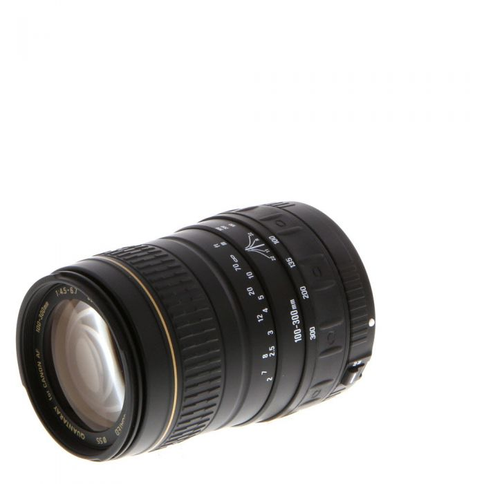 Quantaray 100-300mm F/4.5-6.7 LDO Lens For Canon EF Mount Film Only {55}