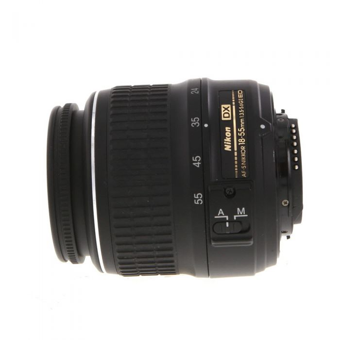 Nikon AF-S DX Nikkor 18-55mm f/3.5-5.6 G ED II Autofocus Lens for APS-C Sensor DSLR, Black {52}