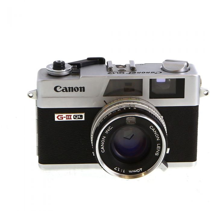 Canon Canonet Ql17 Giii Chrome 35mm Rangefinder Camera With 40 F1 7 At Keh Camera