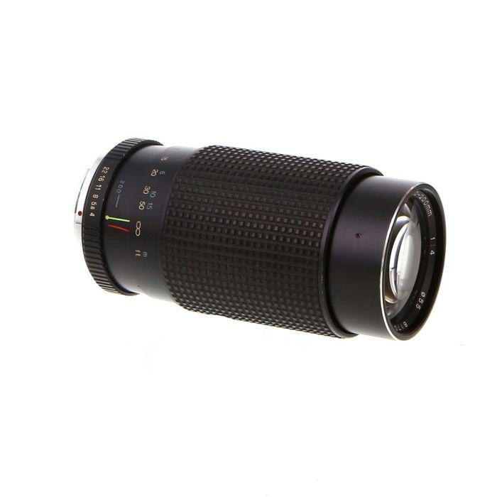 Tokina 80-200mm F/4 RMC Manual Focus Lens For Pentax K Mount {55}