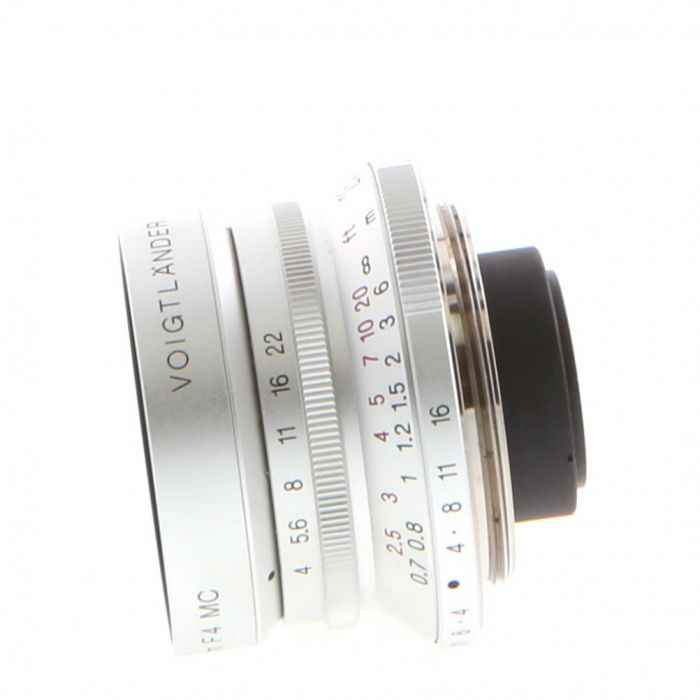 Voigtlander 25mm f/4 Snapshot Skopar Lens for M39 Leica Screw Mount, Silver