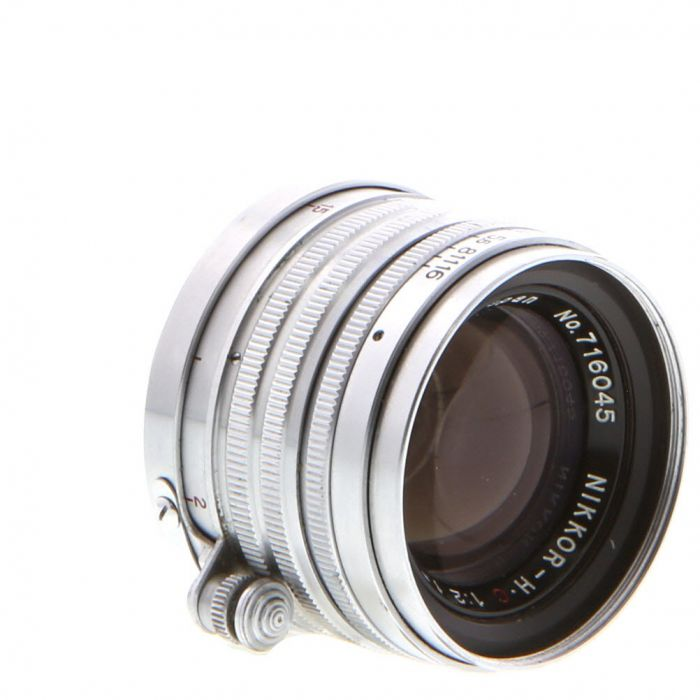 Nikon 5cm (50mm) f/2 Nikkor HC Chrome Lens For Leica Screw Mount {40.5}
