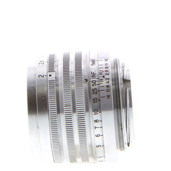Nikon 5cm (50mm) f/2 Nikkor HC Chrome Lens For Leica Screw Mount {40.5}