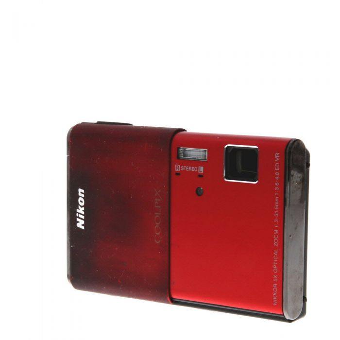 Nikon Coolpix S80 Digital Camera, Red {14.1MP}