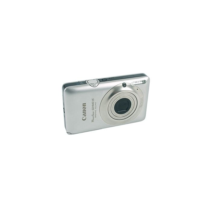 Canon Powershot SD940 IS Silver Digital Camera {12.1 M/P}