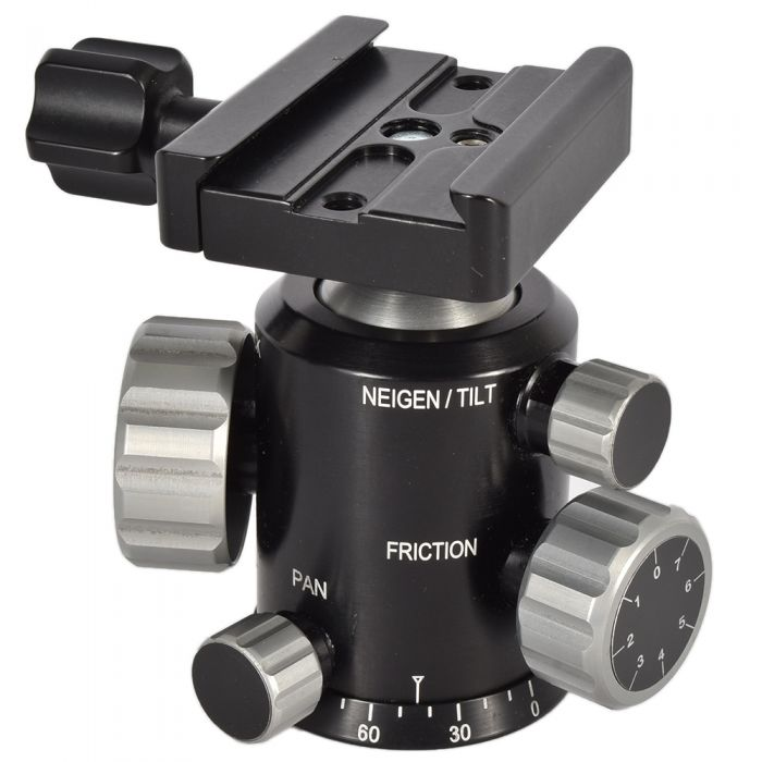 FLM CenterBall 38 FT Ballhead With Wimberley C-10 Quick Release Clamp (Arca-Style) Tripod Head
