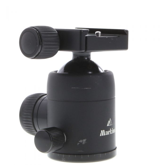 Markins Q-Ball M10 Ballhead Tripod Head with Knob Release Quickshoe, Black (Requires Quick Release Plate)