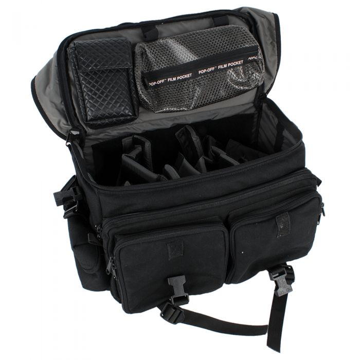 Tamrac   15X9X7 Black Cordura,3 Front,2 Side Pockets