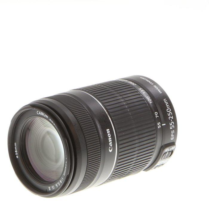 Canon EF-S 55-250mm f/4-5.6 IS II Autofocus Lens for APS-C DSLR {58}