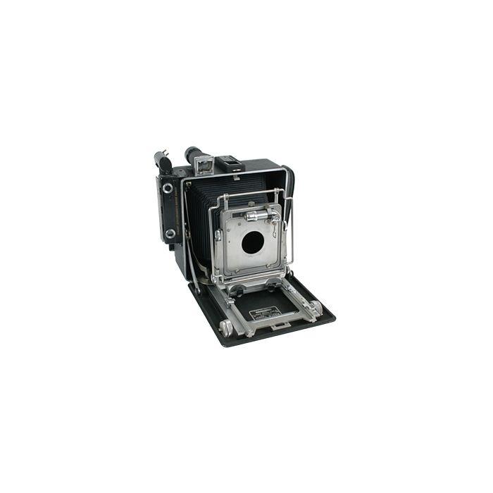Busch 4X5 Pressman Model D Folding View Camera With Top Rangefinder, Top Viewfinder