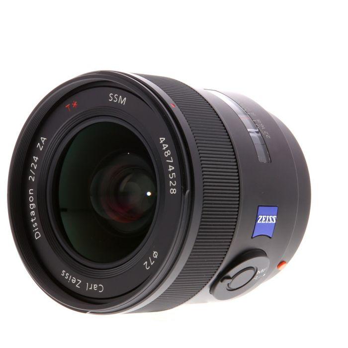 Sony 24mm F/2 Carl Zeiss Distagon T* ZA SSM Alpha Mount Autofocus Lens {72}