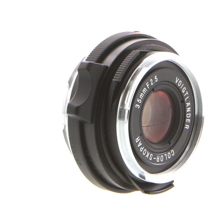 Voigtlander 35mm f/2.5 Color-Skopar Leica M-Mount Lens, Black {39}