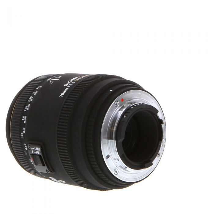Sigma 70mm F/2.8 Macro DG EX Autofocus Lens For Nikon {62}