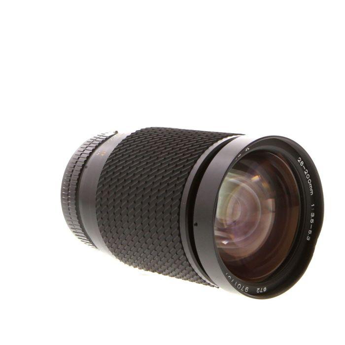 Tokina 28-200mm F/3.5-5.3 SZ-X Macro Breech-Lock FD Mount Lens {72}