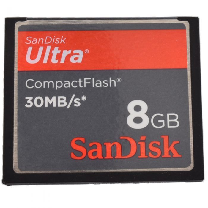 Sandisk 8GB 30 MB/Second Ultra Compact Flash [CF] Memory Card
