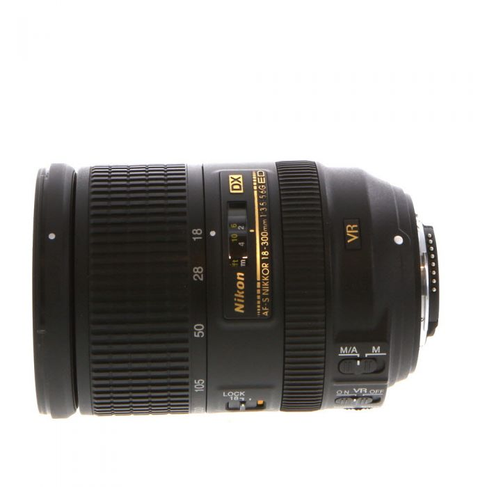 Nikon AF-S DX Nikkor 18-300mm f/3.5-5.6 G ED IF VR Autofocus Lens for APS-C Sensor DSLR, Black {77}