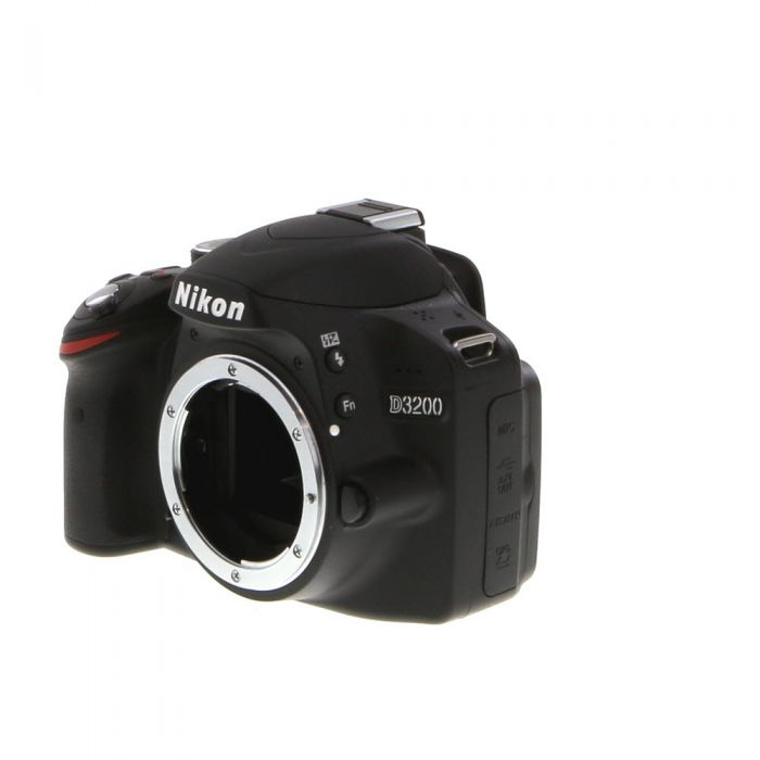 Nikon D3200 DSLR Camera Body, Black {24.2MP}