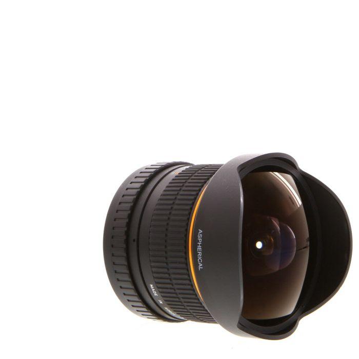 Rokinon 8mm f/3.5 Fisheye Aspherical IF CS Manual EF/S-Mount Lens for Canon APS-C DSLR