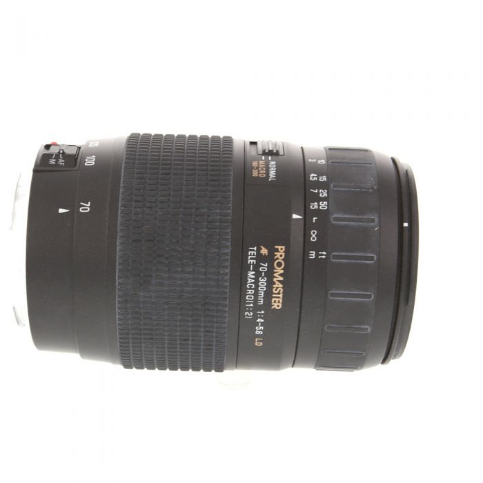 Promaster 70-300mm F/4-5.6 LD Tele-Macro Lens For Canon EF Mount {62}