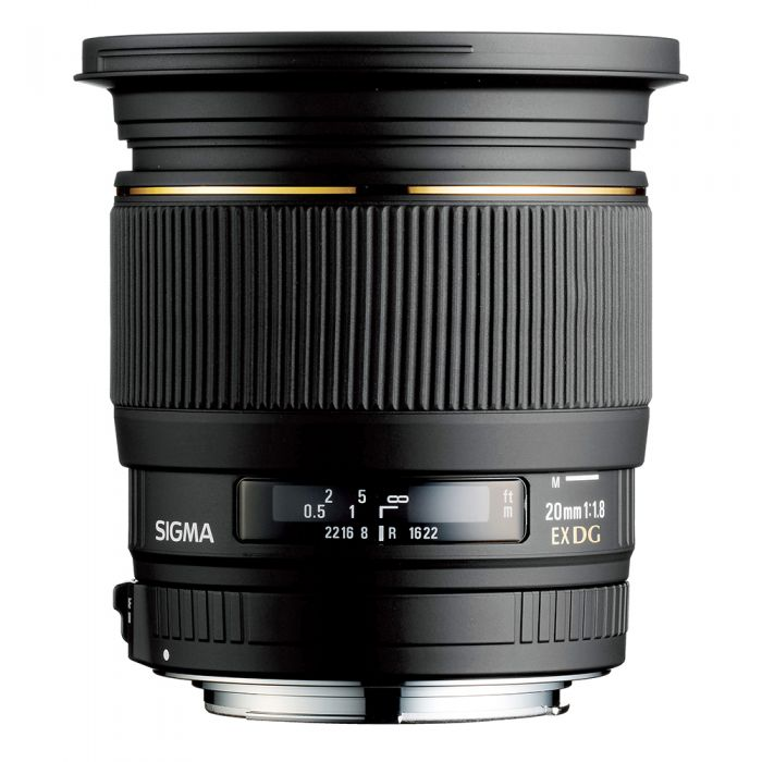 Sigma 20mm F/1.8 EX DG Lens For Sony Alpha Mount {82}