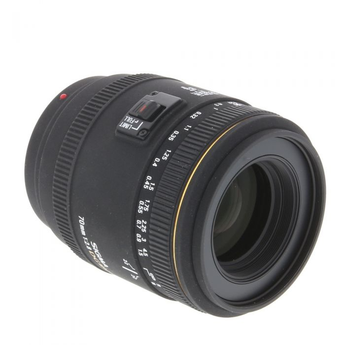 Sigma 70mm F/2.8 Macro EX DG Lens For Sony Alpha Mount {62}