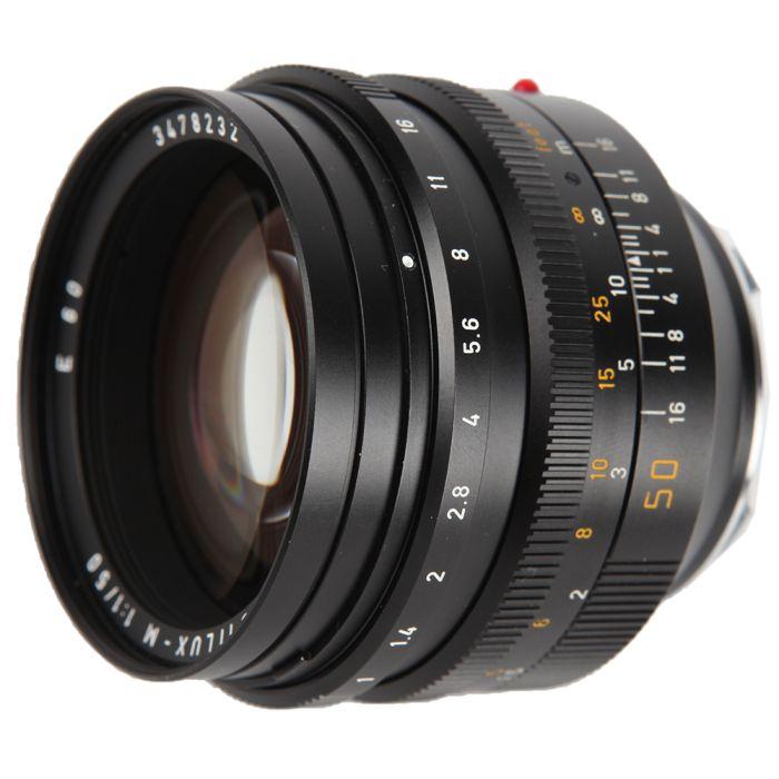 Leica 50mm f/1.0 Noctilux-M M-Mount Lens (Ver 3), Canada, Black, 6-Bit {60} 11821