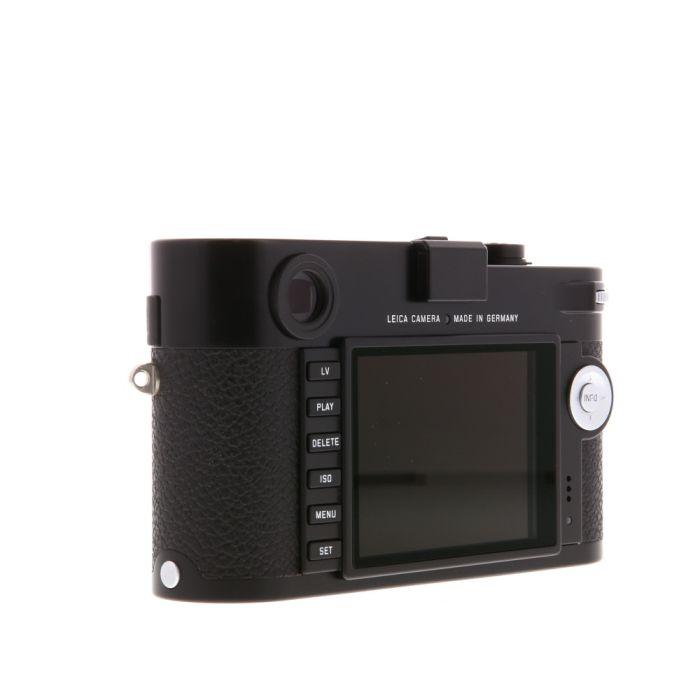 Leica M (Typ 240) Digital Camera Body, Black Paint Finish {24MP} 10770