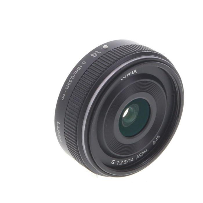 Panasonic Lumix G 14mm f/2.5 ASPH II Autofocus Lens for Micro Four Thirds MFT, Black {46} H-H014AK