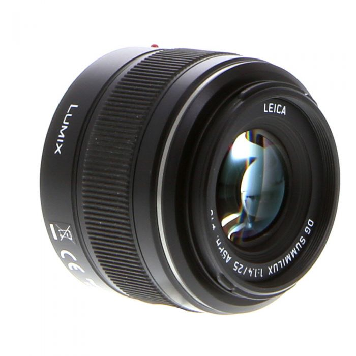 Panasonic Lumix Leica 25mm f/1.4 DG Summilux ASPH. AF Lens for Micro Four Thirds MFT, Black {46} H-X025