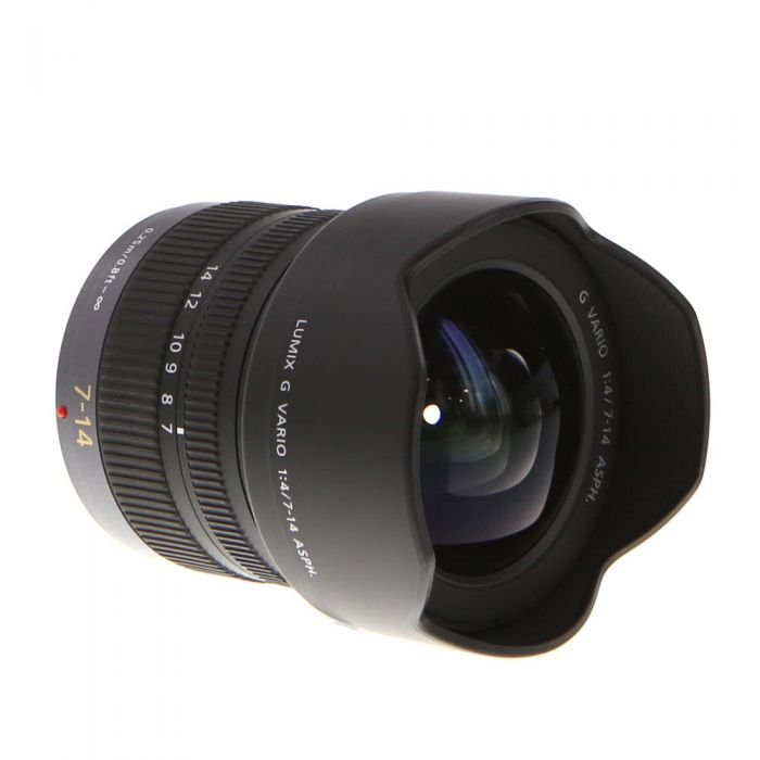Panasonic Lumix 7-14mm f/4 G Vario Asph. Lens for Micro Four Thirds System, Black/Dark Silver