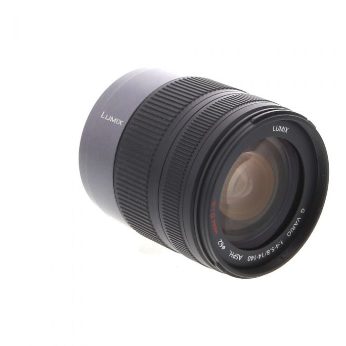 Panasonic Lumix 14-140mm f/4-5.8 G Vario Asph. HD Mega O.I.S. AF Lens for MFT Micro Four Thirds System, Silver/Black {62}