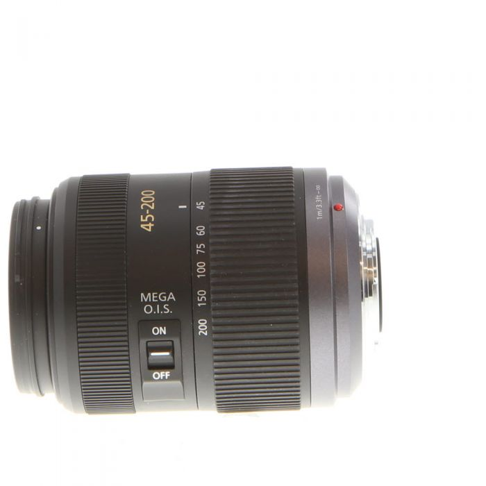 Panasonic Lumix 45-200mm f/4-5.6 G Vario Mega O.I.S. AF Lens for Micro Four Thirds System, Silver/Black {52}