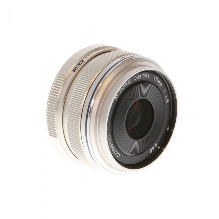 Olympus 17mm F/1.8 M.Zuiko MSC Autofocus Lens For Micro Four Thirds System, Silver {46}