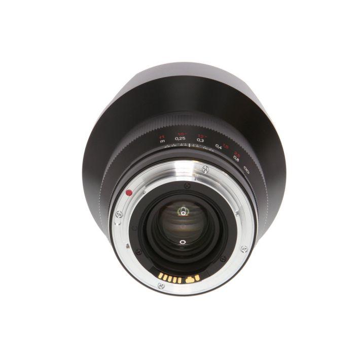 Zeiss 15mm F/2.8 Distagon ZE T* (Manual Focus) Built-In Hood Lens For Canon EF Mount