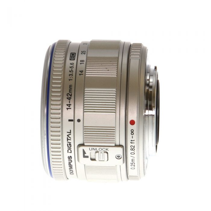 Olympus 14-42mm F/3.5-5.6 M.Zuiko ED Silver Autofocus Lens For Micro Four Thirds System {40.5}