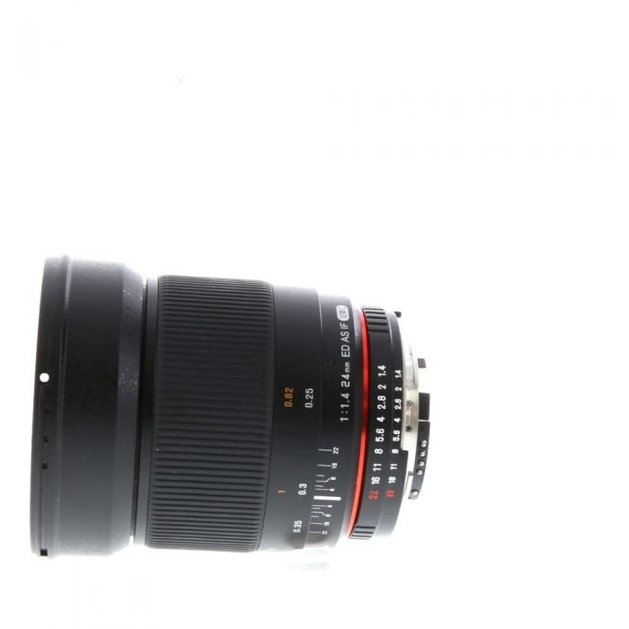 Rokinon 24mm F/1.4 ED AS IF UMC Manual Focus Lens For Nikon With Focus Confirmation Chip (CPU Contacts) {77}