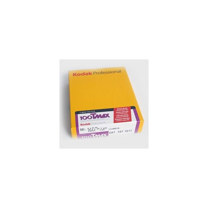 Kodak TMX/4052 4X5 50 Sheets T-Max 100 (ISO 100) Black & White Negative Film