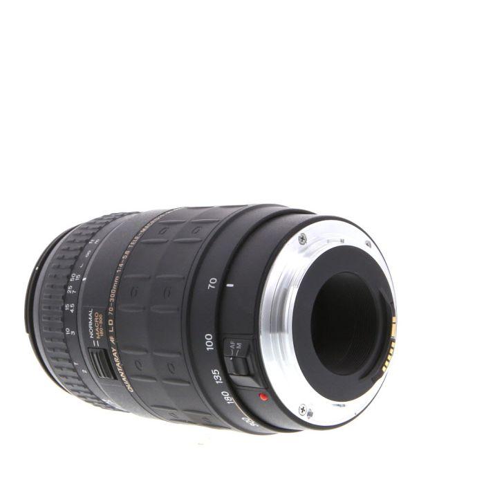 Quantaray 70-300mm F/4-5.6 LD Tele-Macro Lens For Canon EF Mount {62}