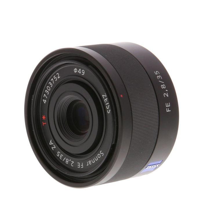 Sony Sonnar T* FE 35mm f/2.8 Carl Zeiss ZA E-Mount Autofocus Lens, Black {49} SEL35F28Z