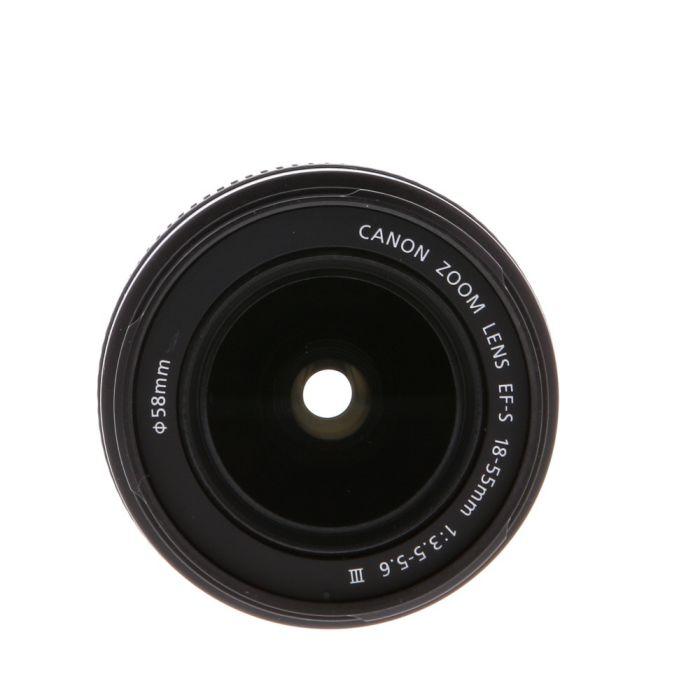Canon EF-S 18-55mm f/3.5-5.6 III Autofocus Lens for APS-C DSLRS {58}