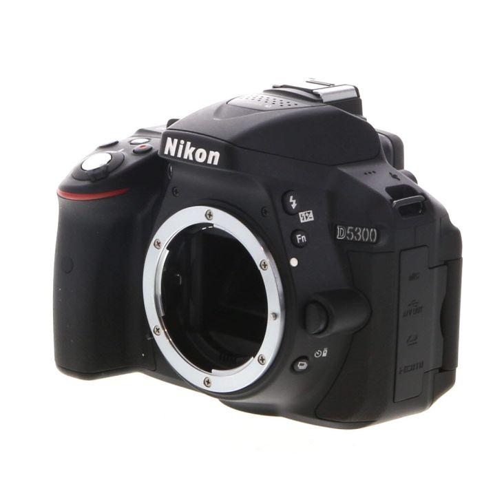 Nikon D5300 DSLR Camera Body, Black {24.2MP}