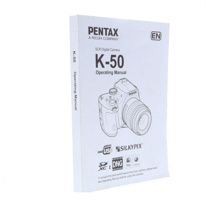 Pentax K-50 Instructions