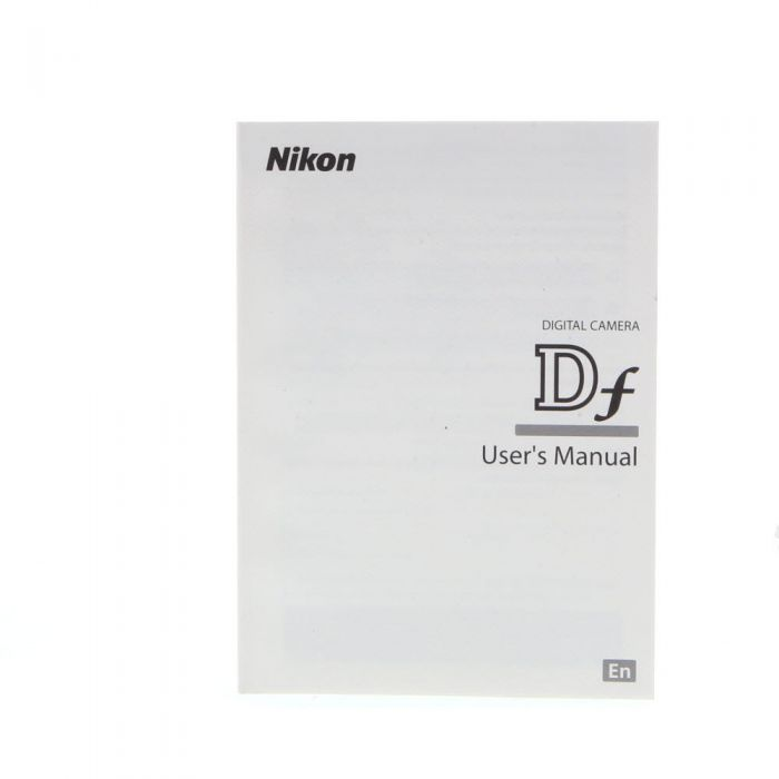 Nikon DF Instructions