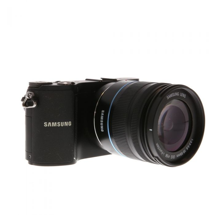 Samsung NX200 Digital Camera, Black Leather {20.3MP} with 18-55 OIS I-Function Lens