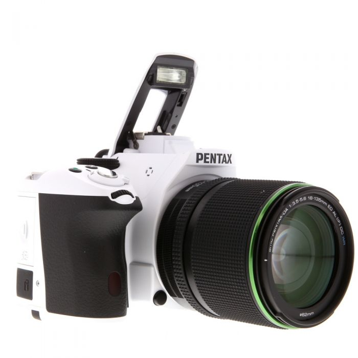 Pentax K-50 White with Black Grips, Digital Camera With 18-135mm F/3.5 DA ED AL IF DC WR Black Lens (62){16.3 M/P}