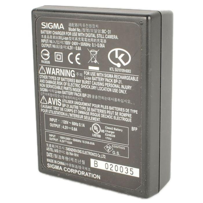 Sigma Battery Charger BC-31 (BP-31)