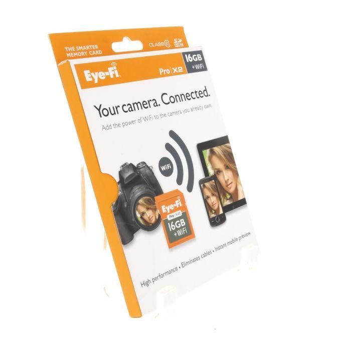 Eye-Fi Pro X2 16GB + WiFi Card, Class 10 SDHC Memory Card