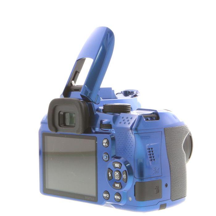 Pentax K-30 Blue with Black Grips Digital Camera With 18-55mm F/3.5-5.6 DAL AL Black Lens (52) {16.3 M/P}