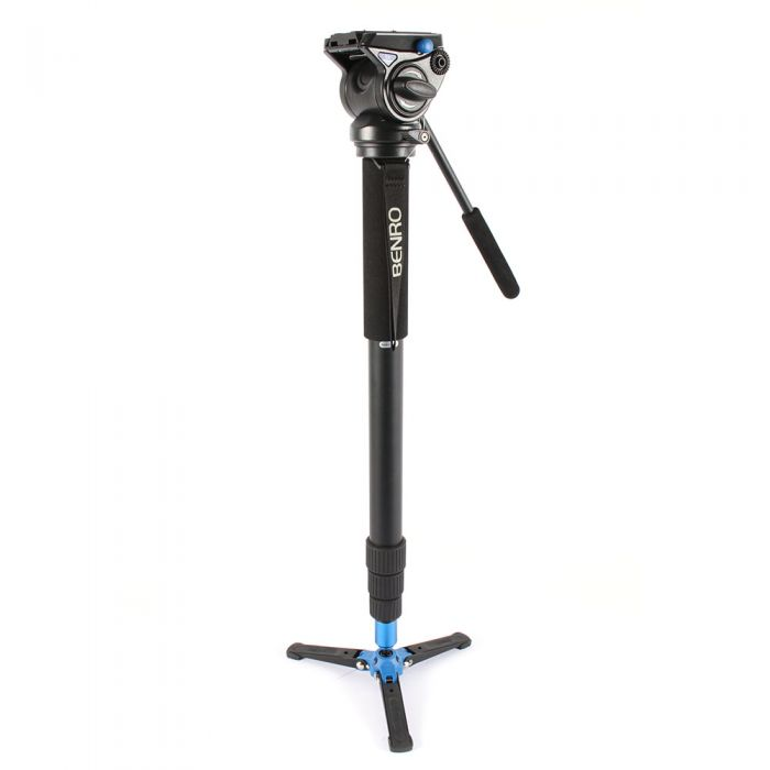 Benro A48TBS4 Video Monopod with S4 Video Head, 27.6-73 in.